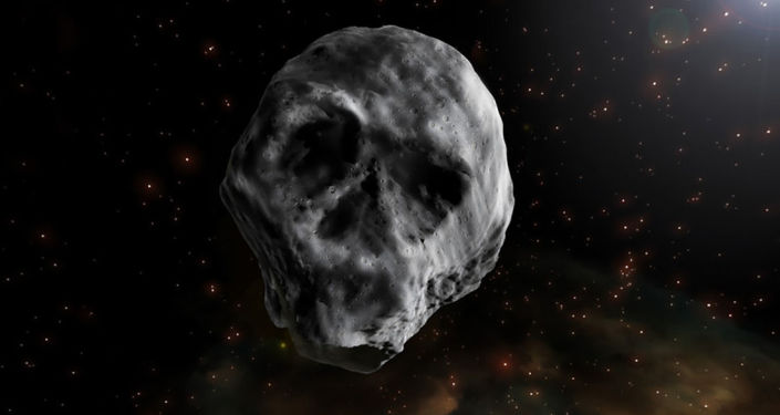 L'asteroide di Halloween a forma di teschio