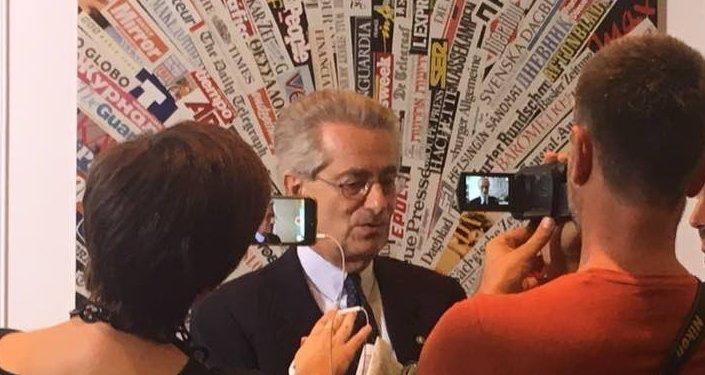 Antonio Zanardi Landi, ex ambasciatore italiano a Mosca, alla presentazione del festival La Roma Russa