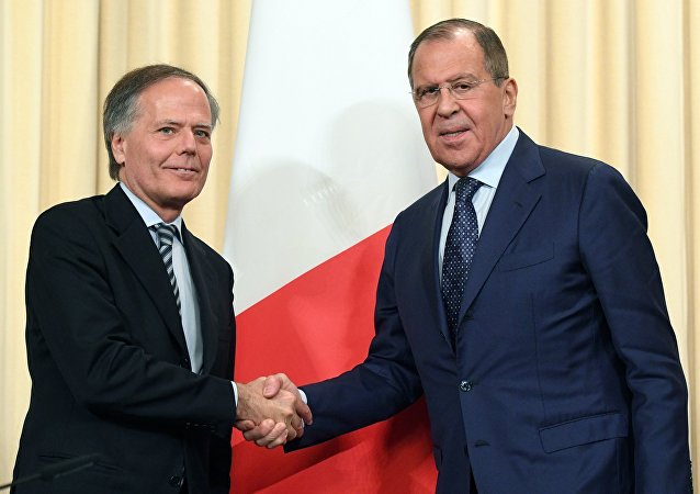 Incontro tra Sergei Lavrov e Enzo Moavero Milanesi