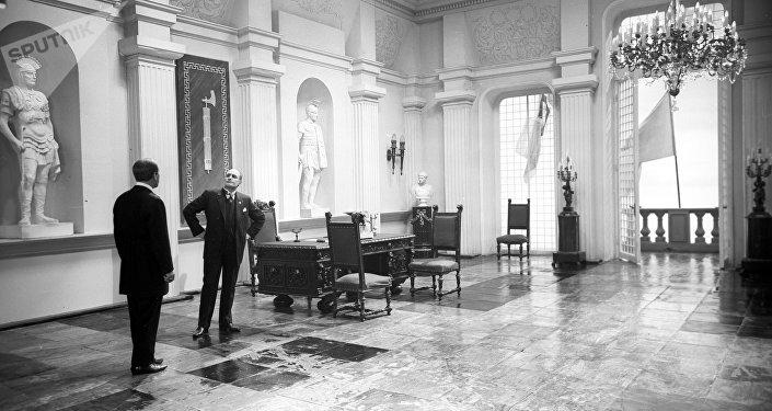 Un quadro dal film sovietico Crollo, 1968, dal regista Vladimir Chebotarev