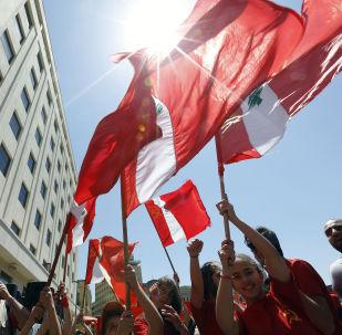 La bandiera del Libano