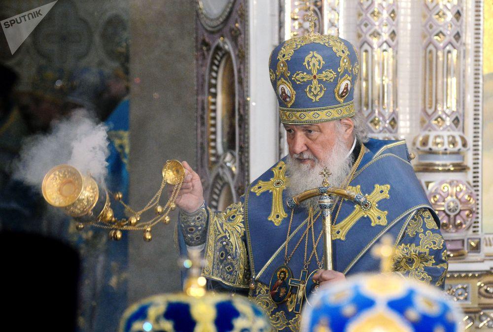 Il patriarca di Mosca e di tutte le Russie Kirill partecipa alla dedicazione di tempio a Minsk.