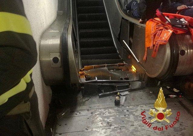 Incidente in metro a Roma: decine di feriti tra cui tifosi russi del Cska