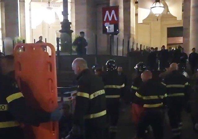 Incidente in metropolitana a Roma