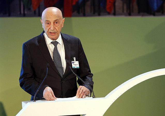 Il presidente del parlamento libico di Tobruk, Aguila Saleh