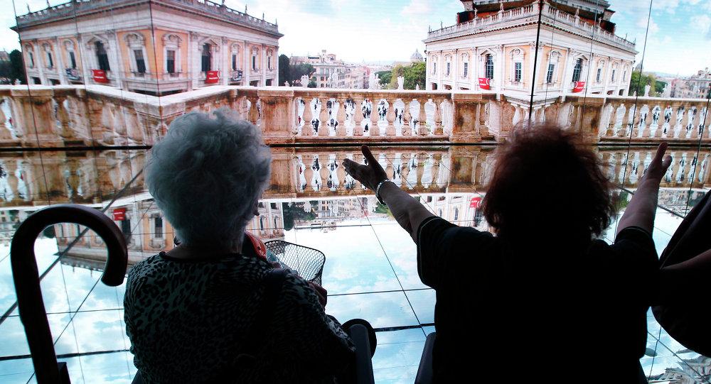 Il padiglione Italia nell`Expo 2015 a Milano