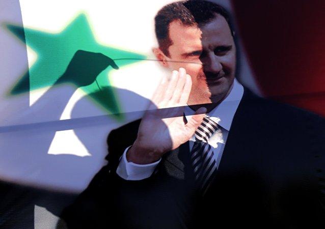 Ritratto di Bashar Assad