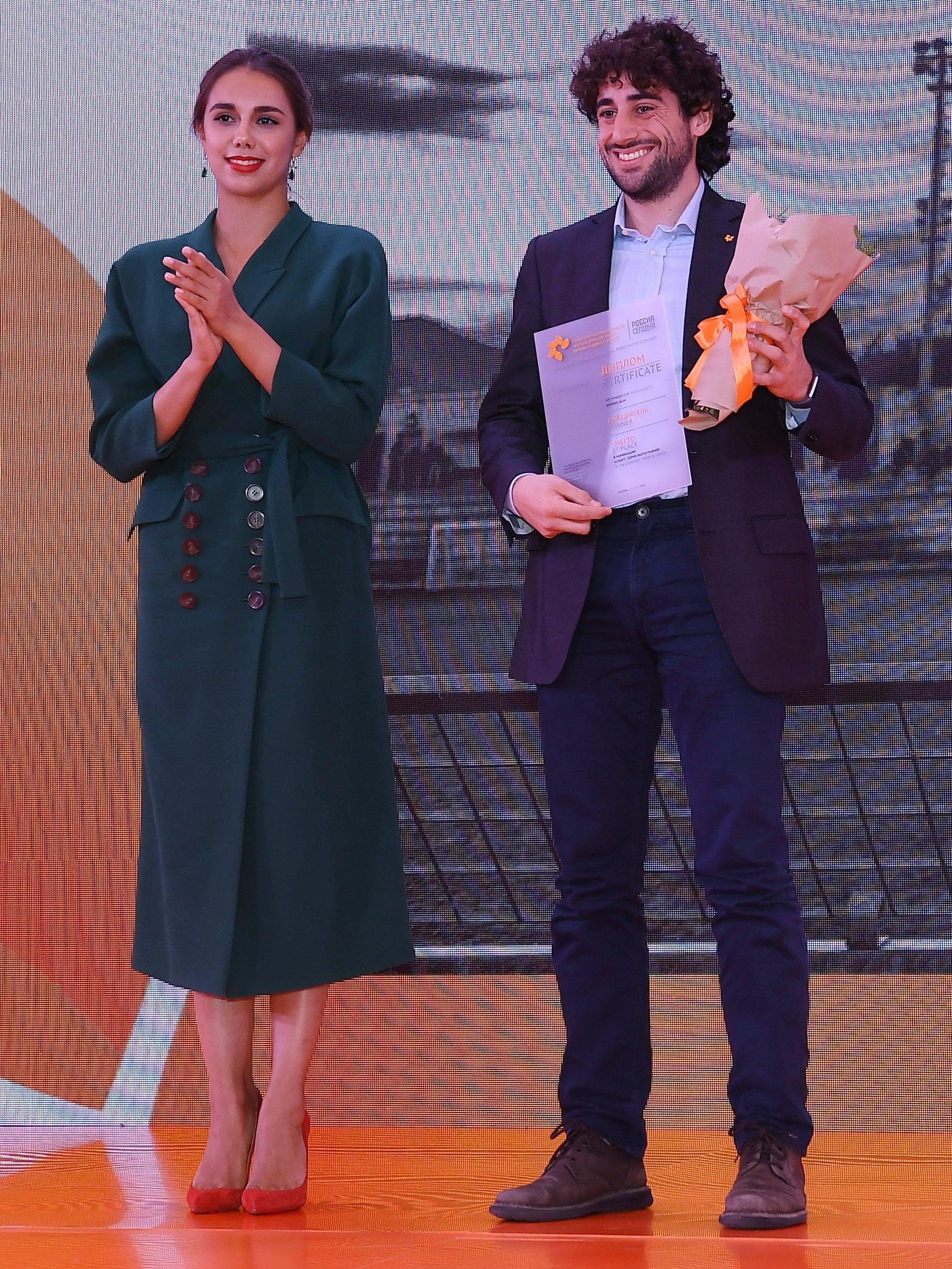 Andrea Alai alla premiazione Stenin 2018