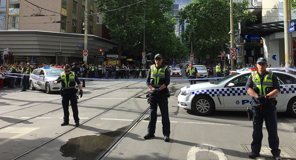 Polizia blocca il luogo dell'incidente a Melbourne