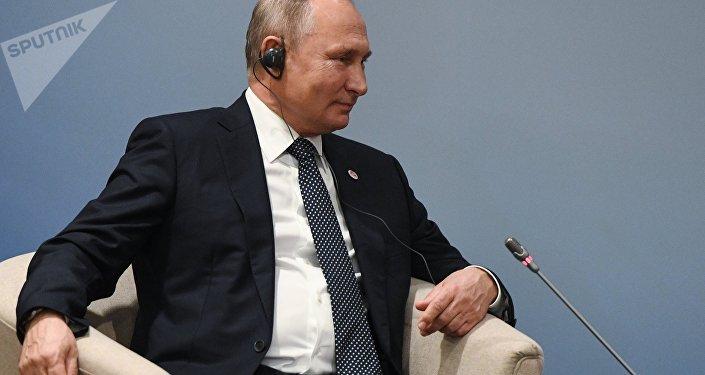 Vladimir Putin a Singapore
