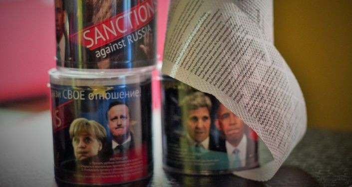 Carta igienica con il testo delle sanzioni