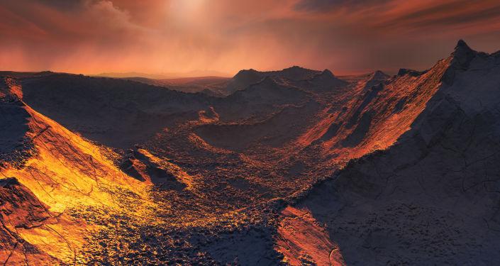L'immagine artistica del pianeta scoperto nella vicino alla stella Barnard