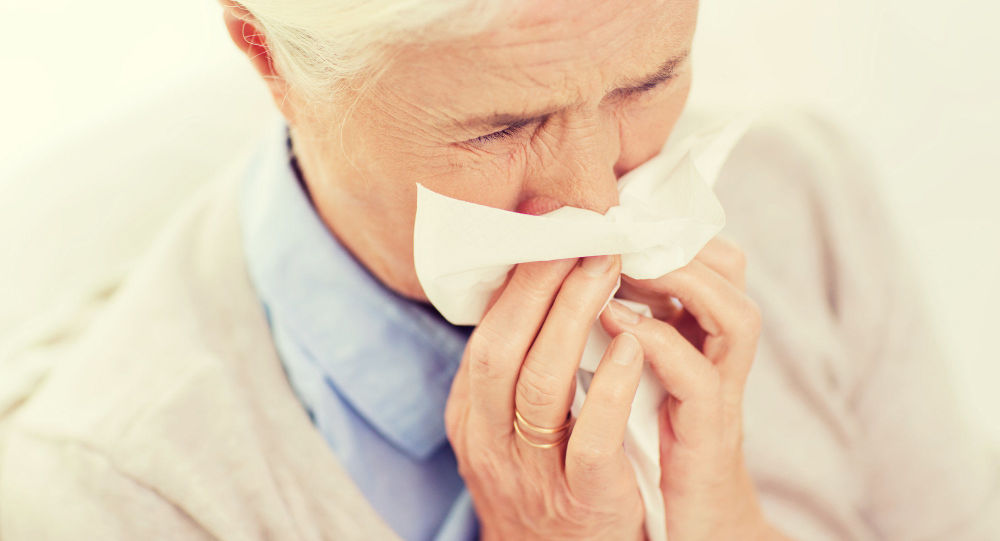 Una donna anziana malata