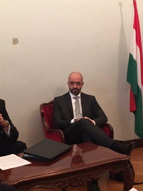Il portavoce del governo ungherese Zoltan Kovac
