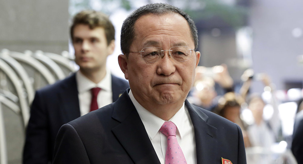 Il ministro degli Esteri della Corea del Nord Ri Yong-ho