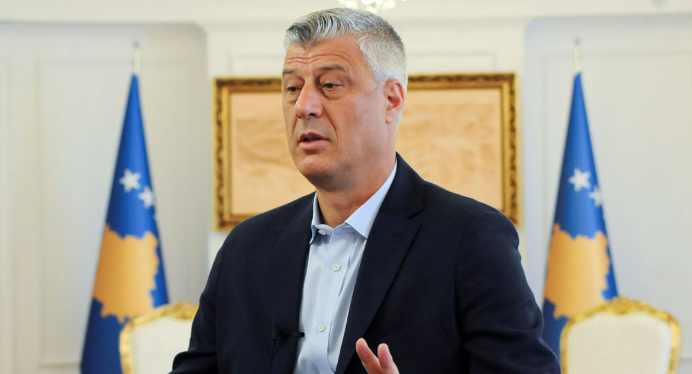 il presidente kosovaro Hashim Thaci