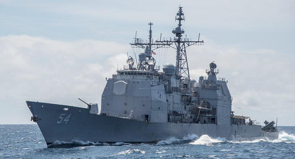 Nave Usa della classe Ticonderoga nel Mar Cinese Meridionale