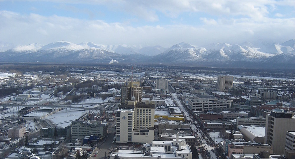 Anchorage, Alaska, view from a helicopter