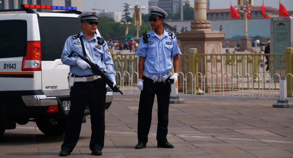 Agenti di polizia in Cina