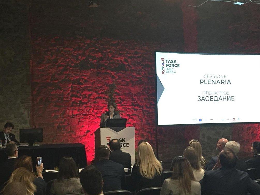 L'intervento di Leonora Barbiani alla sessione plenaria della Task Force italo russa di Firenze