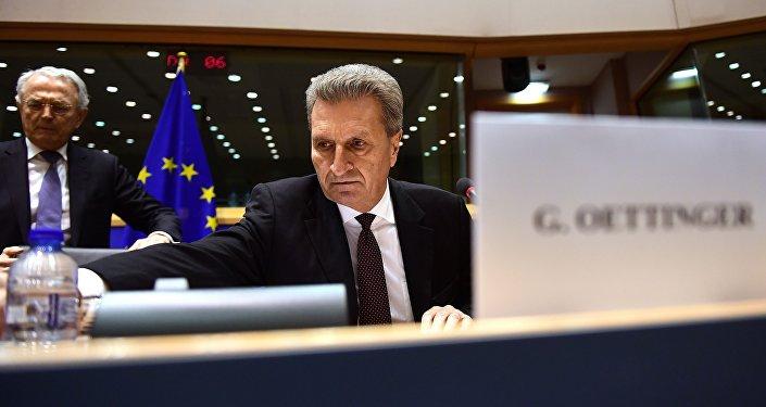 Il commissario europeo al Bilancio, Guenther Oettinger
