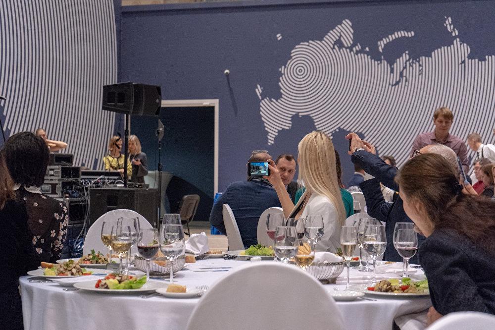 La cena conclusiva della fiera Buongiorno Italia, organizzata dall'ENIT in collaborazione con le regioni Puglia e Lombardia