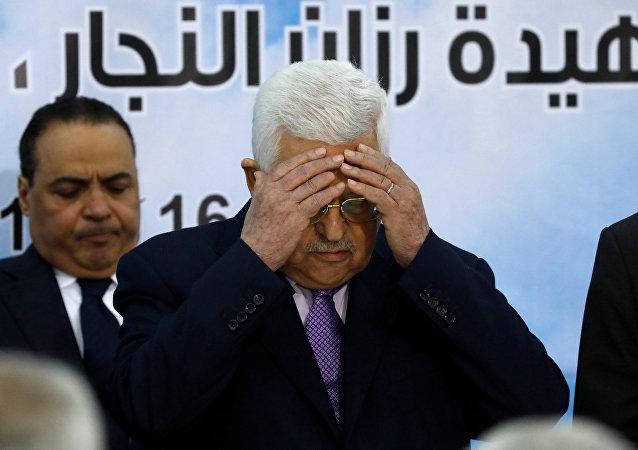 Presidente palestinese Mahmoud Abbas