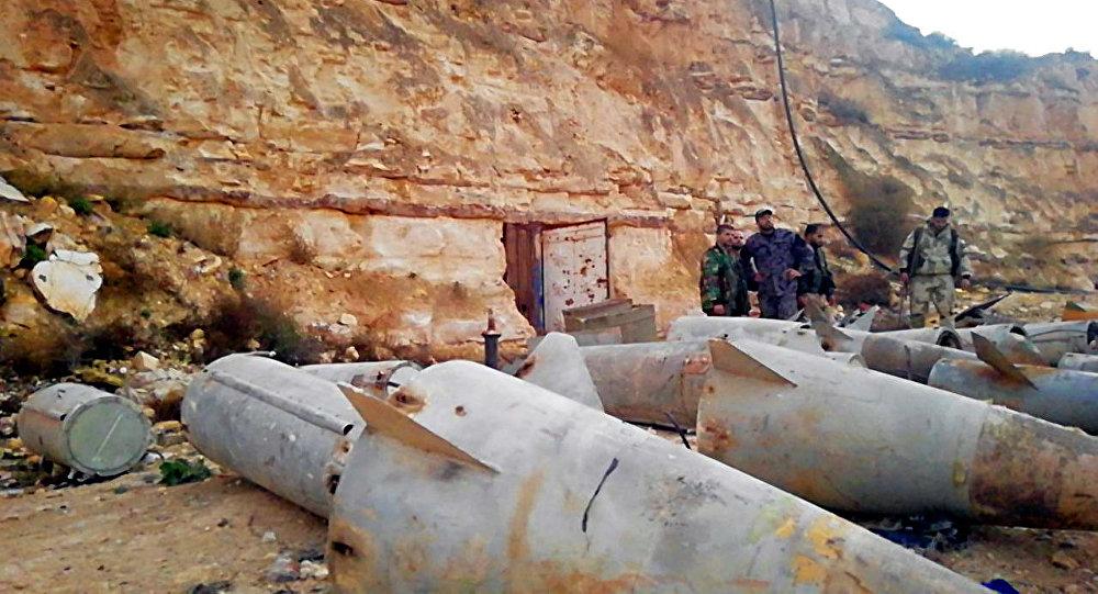 Armi dei terroristi nella provincia siriana di Daraa