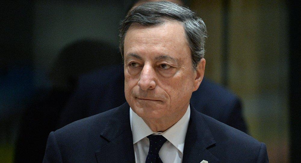 Presidente della Bce Mario Draghi