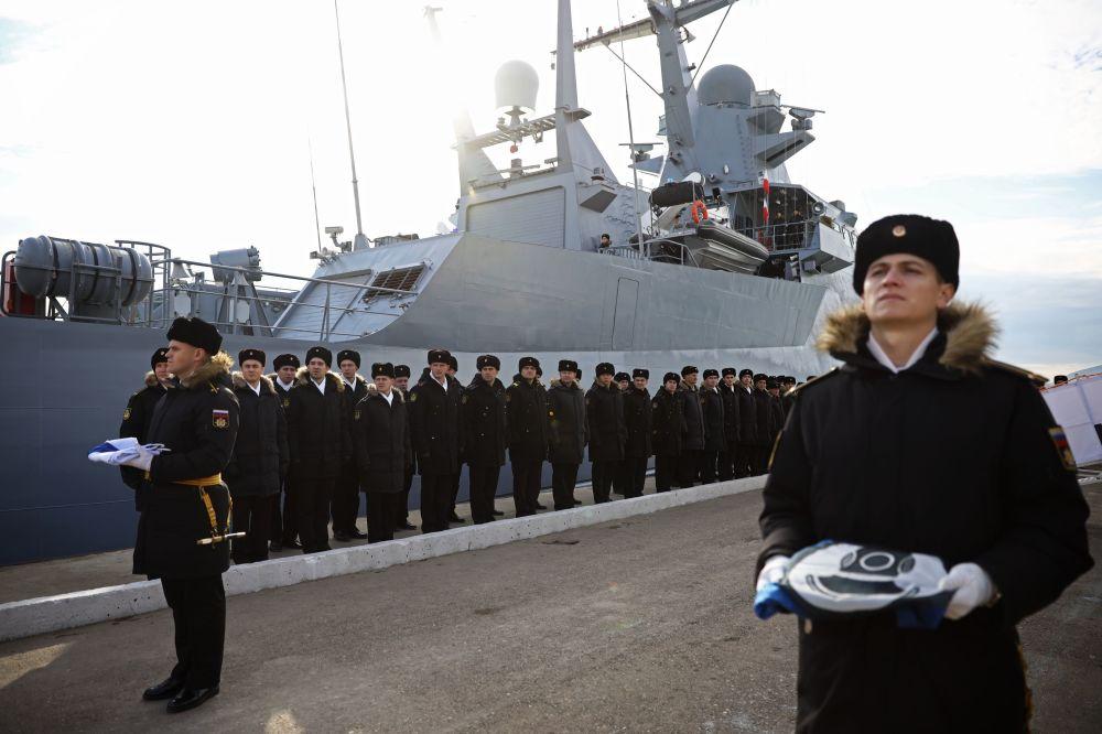 Entra in servizio la nuovissima corvetta Vassiliy Bikov.