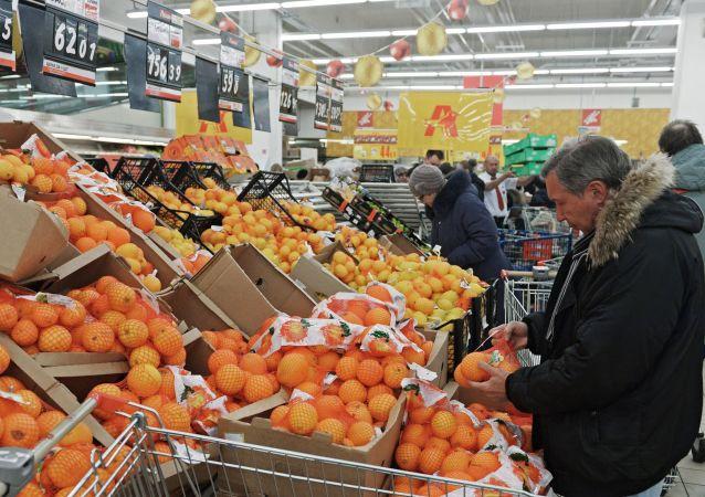 Mandarini al supermercato