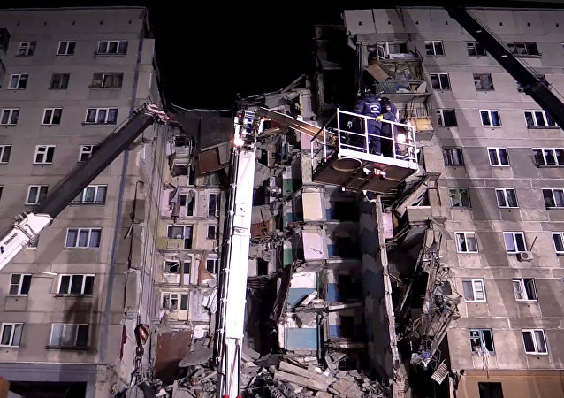 A natural gas blast hit one of the blocks of a 10-storey building in Magnitogorsk, the Chelyabinsk Region, damaging 48 apartments.