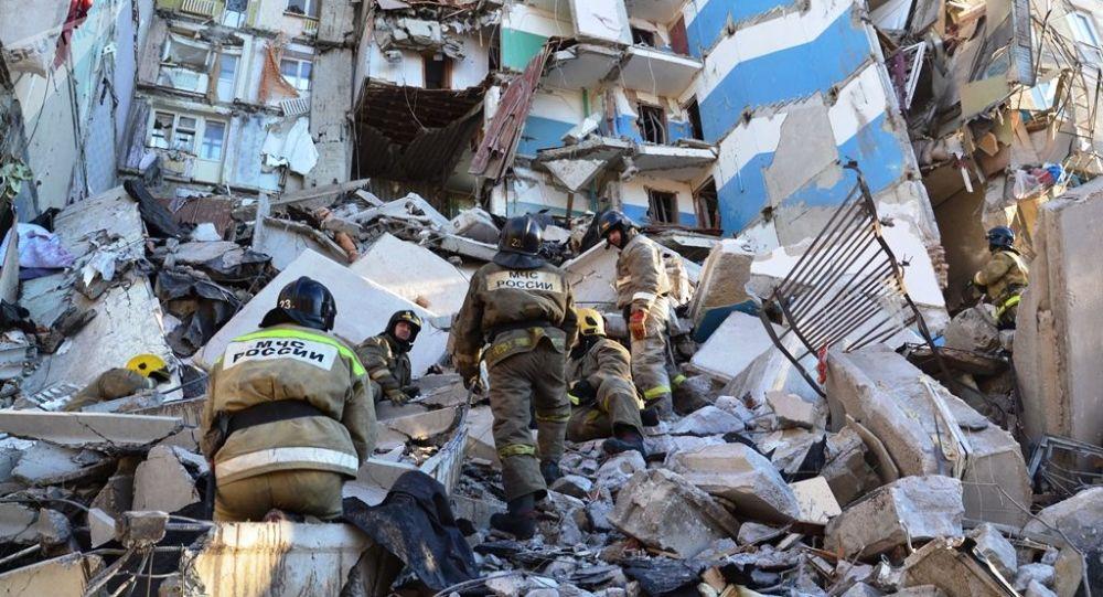 Casa colpita dall'esplosione a Magnitogorsk
