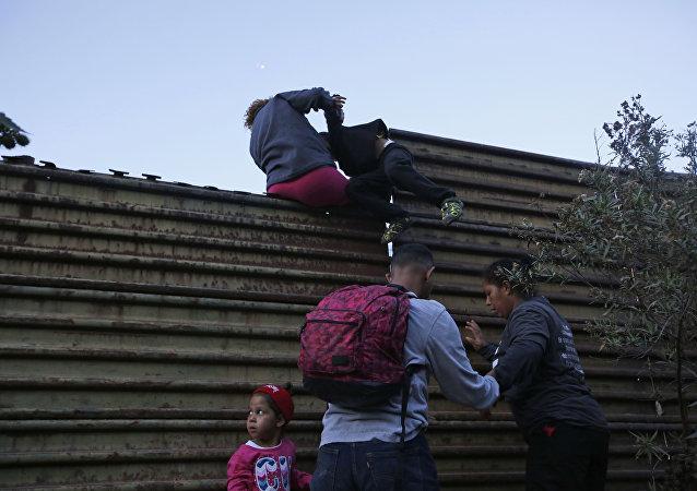 Migranti in Messico verso gli USA (foto d'archivio)