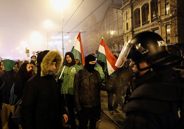 Le proteste a Budapest