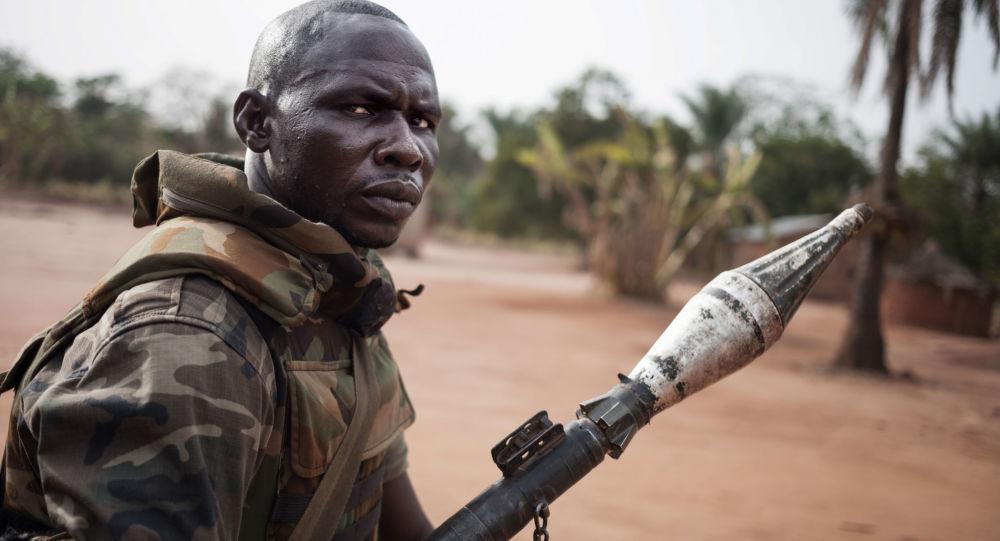 Un soldato della Repubblica Centrafricana