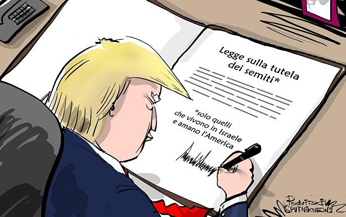 Trump firma la legge sulla lotta contro l'antisemitismo in Europa