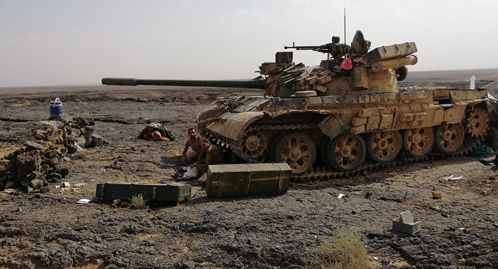 Army going after terrorist remnants in southern Syria.
