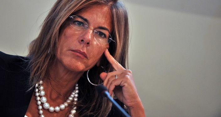 Emma Marcegaglia, presidente dell'Eni