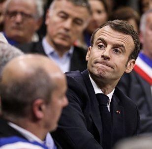 Il presidente della Francia Emmanuel Macron