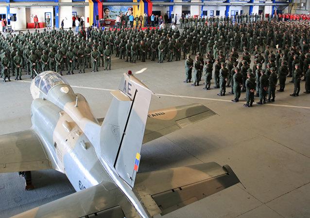 Nicolas Maduro presente alle esercitazioni militari a Maracaibo, Venezuela.