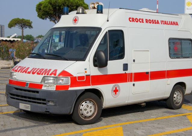 Ambulanza della Croce Rossa in Italia