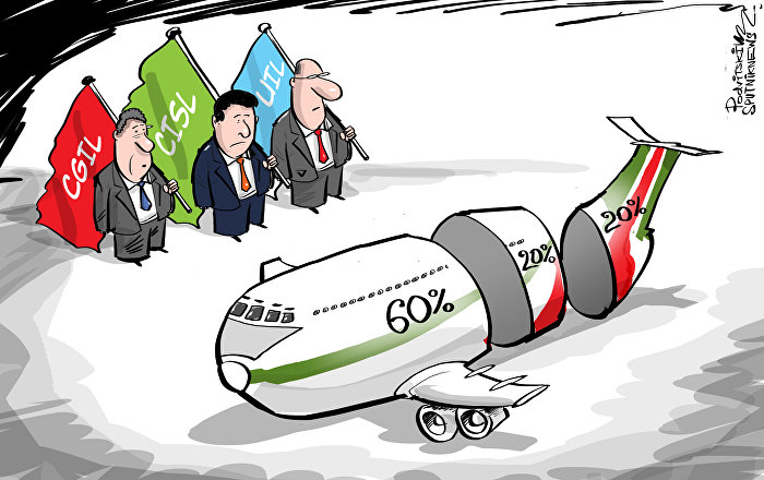 Il governo dell'Italia si dice pronto a partecipare alla costituzione della nuova compagnia aerea di cui avrà in possesso il 60%. Delta e Easy Jet avranno il 20% ciascuna.