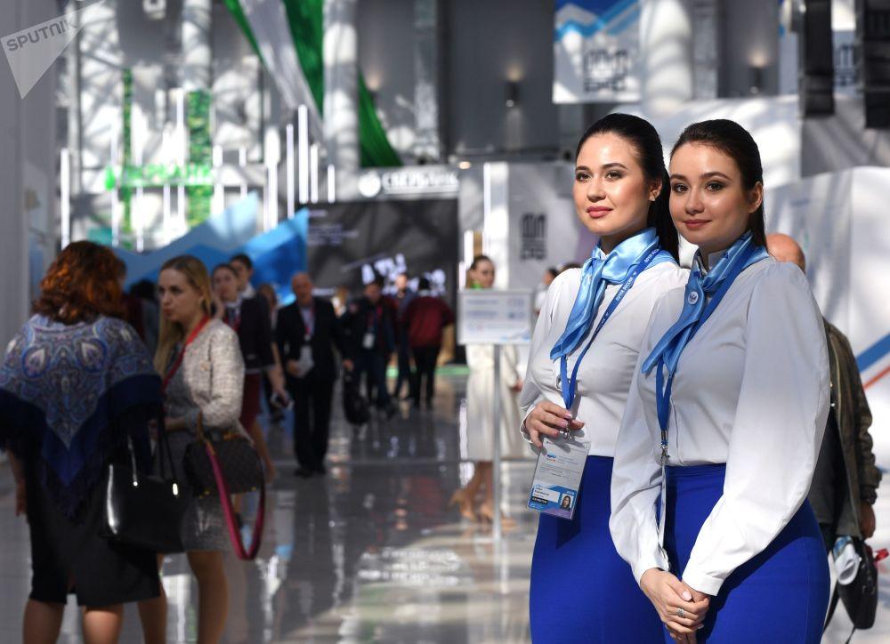 Partecipanti al forum sugli investimenti russo a Sochi, Russia.