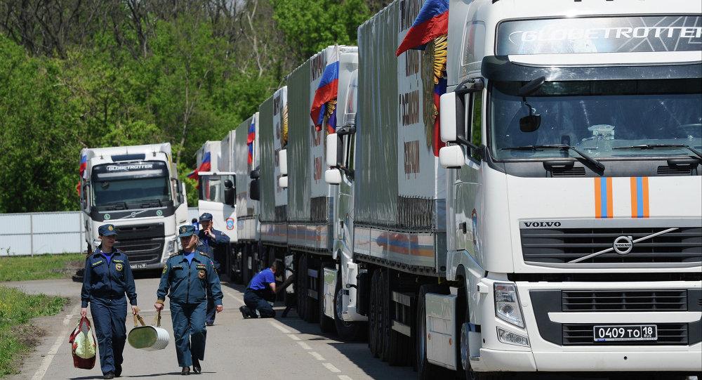 Convoglio umanitario russo per il Donbass
