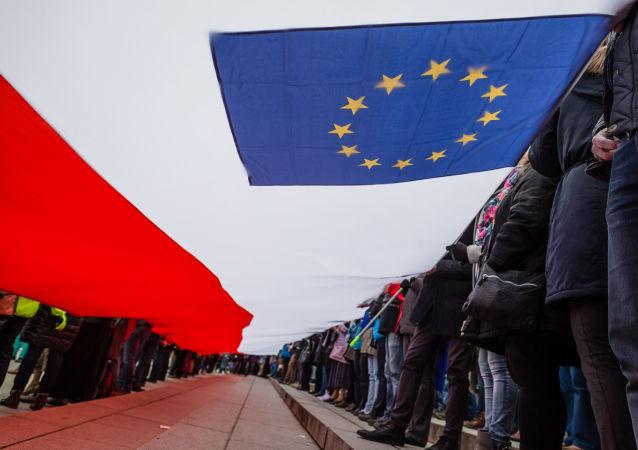 Bandiere Polonia Ue