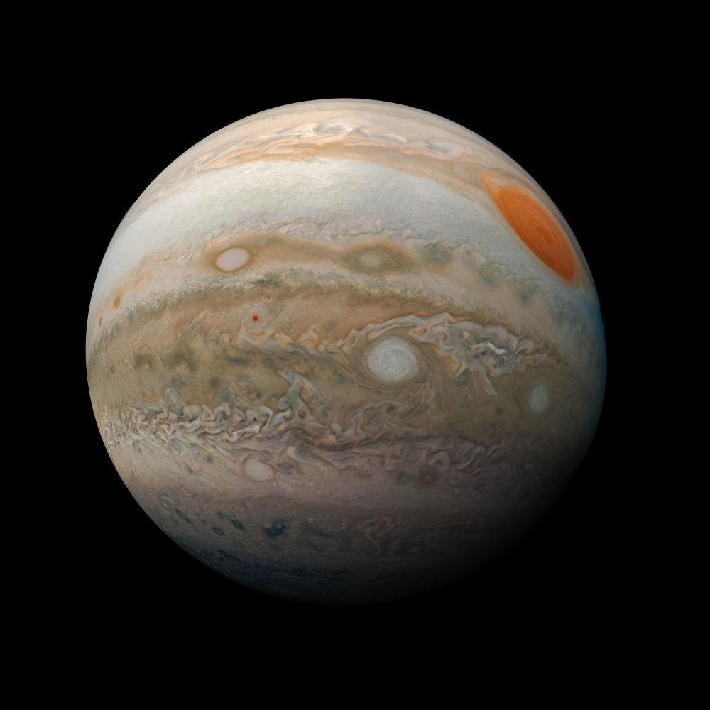 Nouva foto di Giove scattata dalla sonda Juno della NASA.