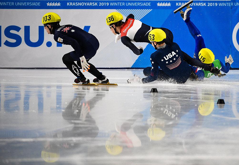 Krasnoyarsk 2019, sul filo del rasoio durante le gare eliminatorie dei 1500m di short track