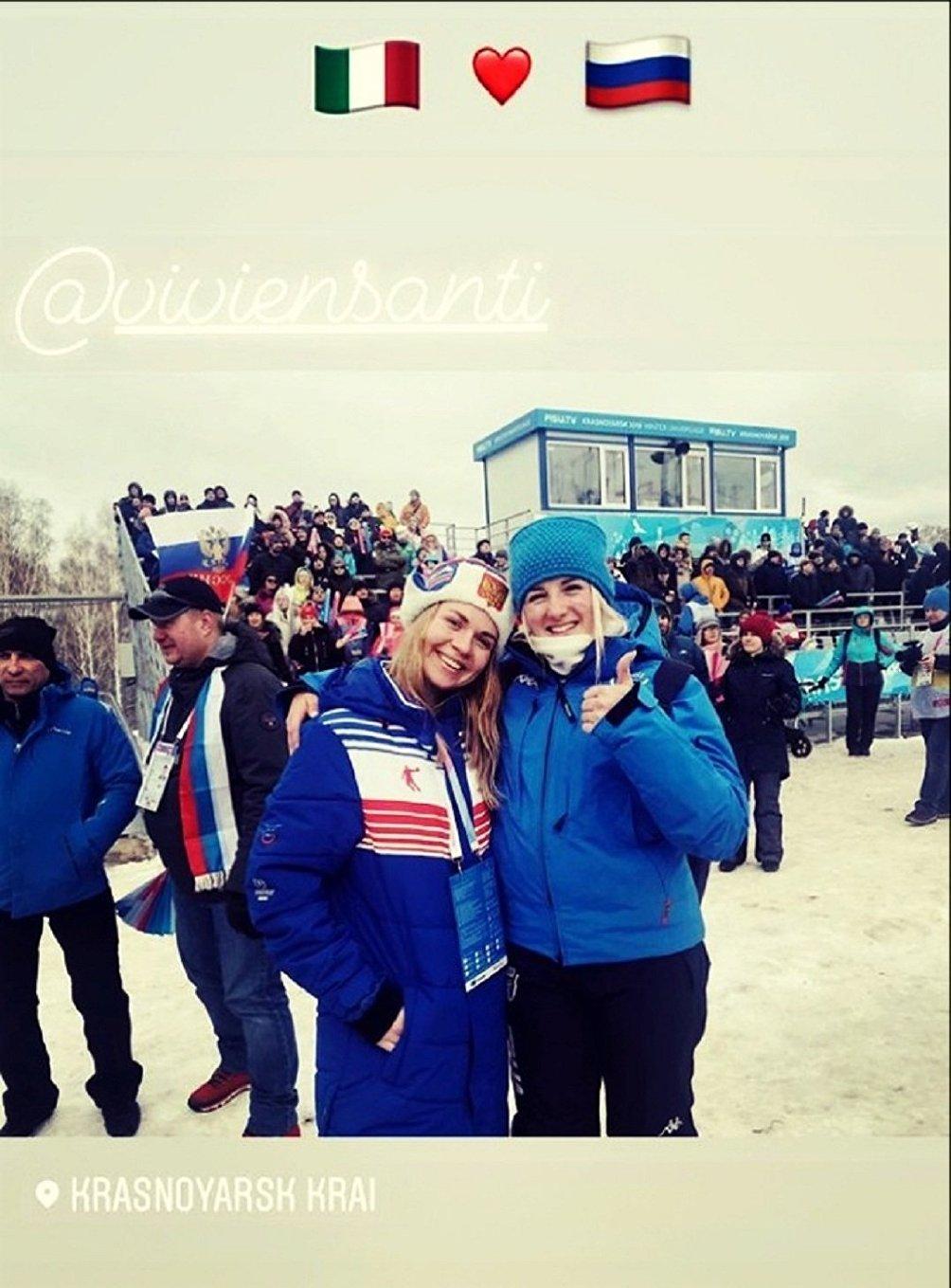Vivien Santifeller e la sua amica-rivale russa Alexandra Shirshova