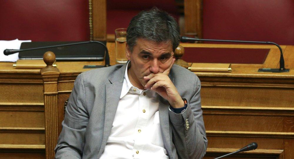 Il Ministro di Finanze greco Euclid Tsakalotos